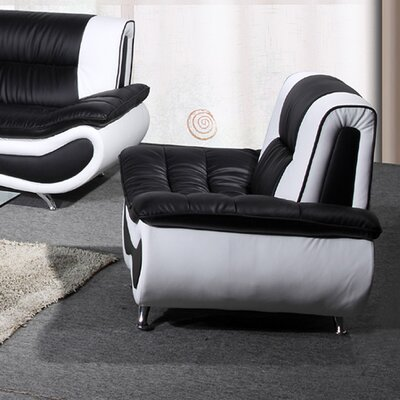 Lena Chair Finish: Black / White