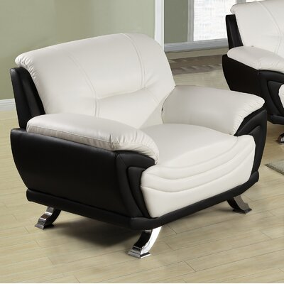 Tina Chair Color: White / Black