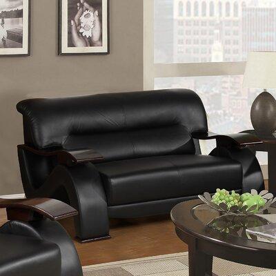Koriga Loveseat Upholstery: Black