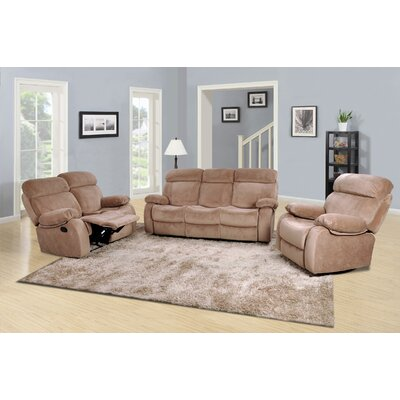 Topeka 3 Piece Recliner Sofa Set