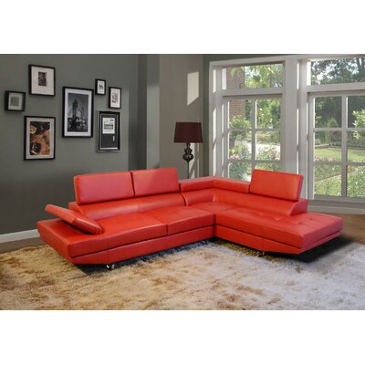 Fila Sectional Upholstery: Red