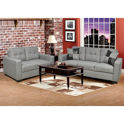 Beverly Fine Furniture F2402-2PC Della 2 Piece Living Room Set Upholstery