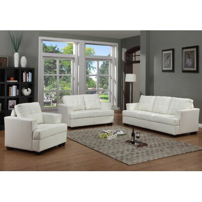 Beverly Fine Furniture F15-WT-3PC Cecilia 3 Piece Living Room Set Upholstery