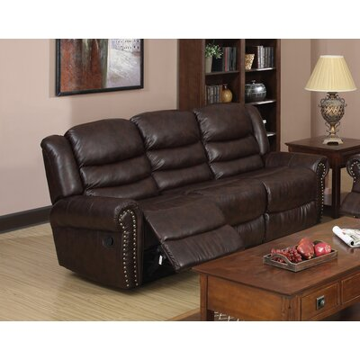 Wausau Leather Reclining Sofa