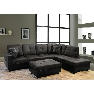 Beverly Fine Furniture F112A-3pcs Aiden Sectional