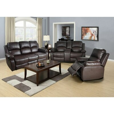 Lucius 3 Piece Living Room Set