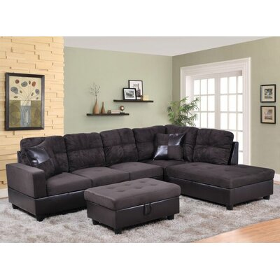 Beverly Fine Furniture F105B-3pcs Isabella Sectional Orientation