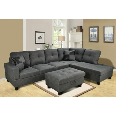 Beverly Fine Furniture F108B-3pcs Benjamin Sectional Orientation