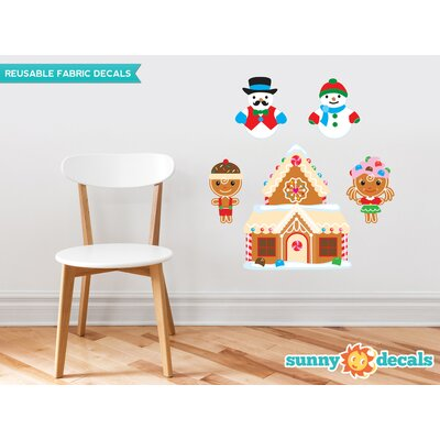 Christmas Fabric Wall Decal with Gingerbread House