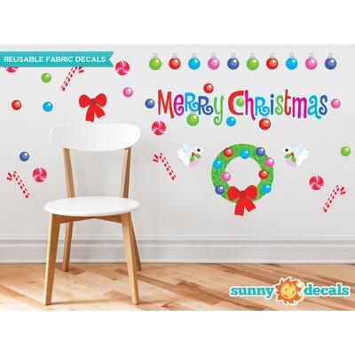 Merry Christmas Fabric Wall Decal