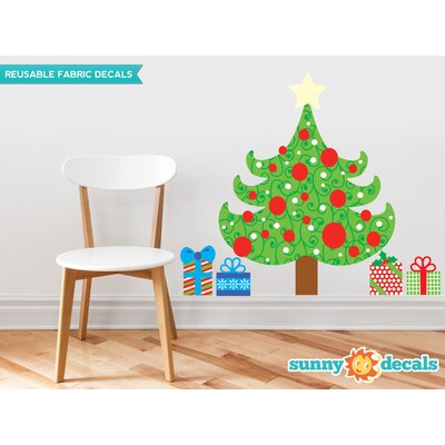 Christmas Tree Fabric Wall Decal