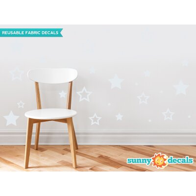 Stars Fabric Wall Decal Color: Light Grey