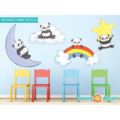 4 Piece Panda Bears Wall Decal Set 175LARGE