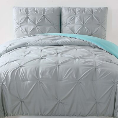 Talon Duvet Set Color: Silver Gray, Size: Twin XL