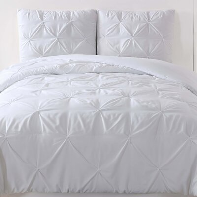 Talon Duvet Set Color: White, Size: Full/Queen