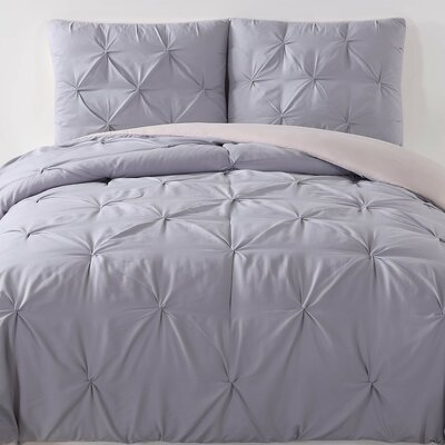 Talon Comforter Set Color: Lavender, Size: Full/Queen
