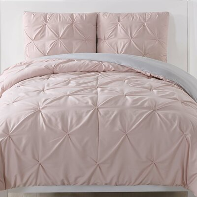 Talon Duvet Set Color: Blush, Size: Twin XL