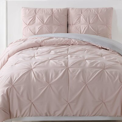 Talon Comforter Set Color: Blush, Size: Twin XL