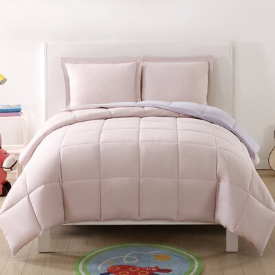 Jamal Kids Reversible Comforter Set Color: Blush/Lavender, Size: Twin XL