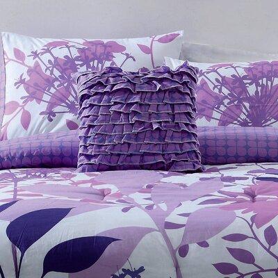 Lavender Shadow Cotton Throw Pillow