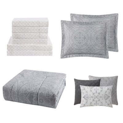 Ona 12 Piece Comforter Set Size: Queen