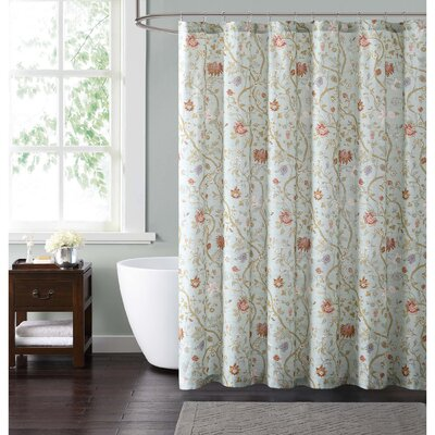 Upton Shower Curtain Color: Blue