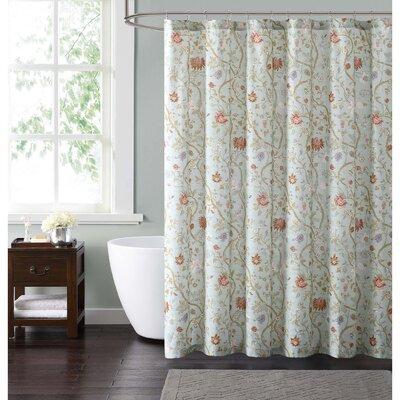 Upton Shower Curtain Color: Blue