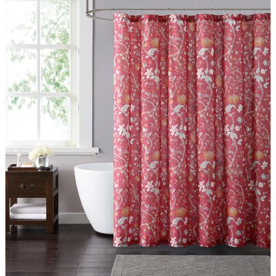 Upton Shower Curtain Color: Red