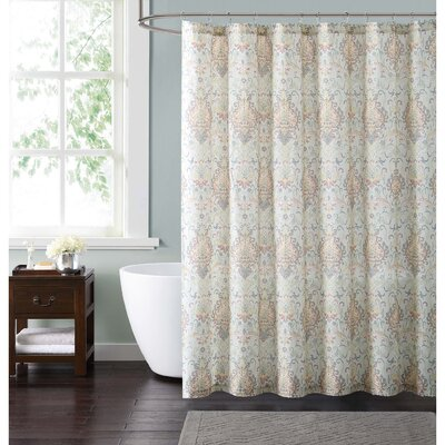 Clendaniel Shower Curtain Color: Ivory
