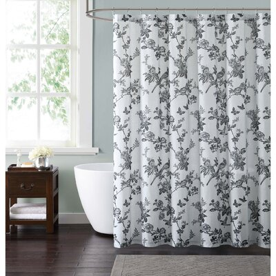 Foster Shower Curtain Color: Black