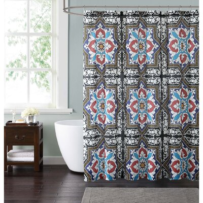 Clickett Shower Curtain Color: Blue