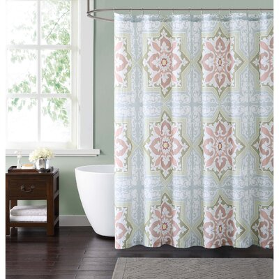 Clickett Shower Curtain Color: Green