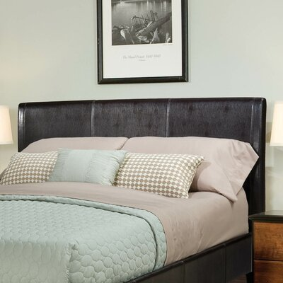 New York Upholstered Panel Headboard Size: Twin, Finish: Brown