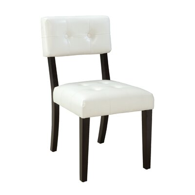Miller Parsons Chair (Set of 2) Upholstery: White