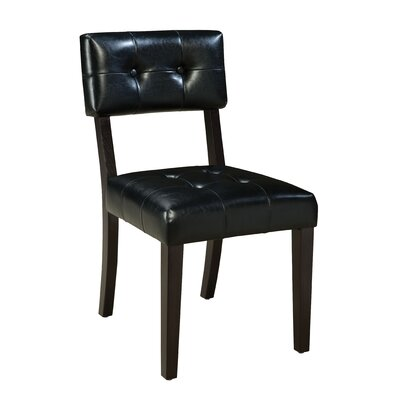 Miller Parsons Chair (Set of 2) Upholstery: Black