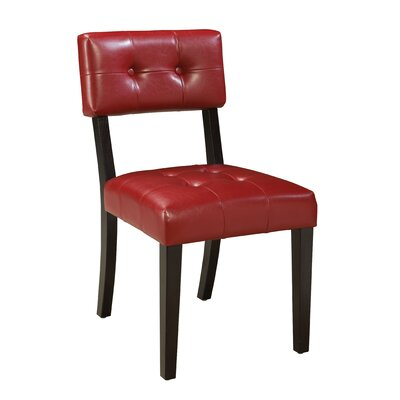 Miller Parsons Chair (Set of 2) Upholstery: Red