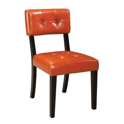 Miller Parsons Chair (Set of 2) Upholstery: Orange