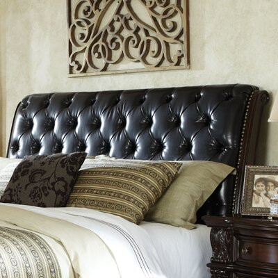 Churchill Upholstered Sleigh Headboard Size: King