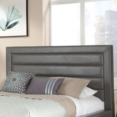 Reaction Upholstered Headboard Upholstery: Grey, Size: King