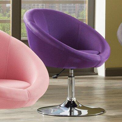 YoCo Adjustable Height Bar Stool Upholstery: Purple