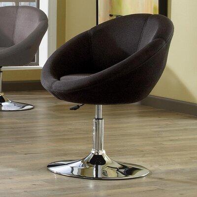 YoCo Adjustable Height Bar Stool Upholstery: Black