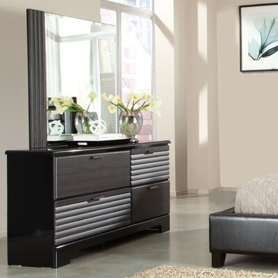 Reaction 4 Drawer Double Dresser