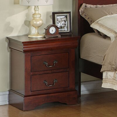 Lewiston Standard 2 Drawer Nightstand Finish: Deep Brown