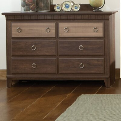 Weatherly 6 Drawer Dresser with Mirror