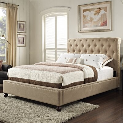 Stanton Upholstered Platform Bed Size: Queen, Color: Light Brown