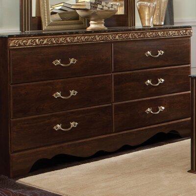 Odessa 6 Drawer Standard Dresser Finish: Cherry