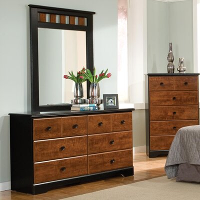 Steelwood 6 Drawer Dresser with Mirror
