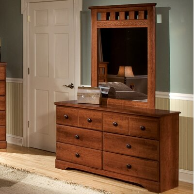 Orchard Park 6 Drawer Double Dresser with Mirror