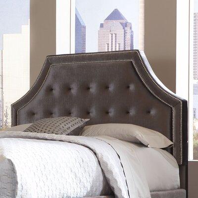 Wilshire Boulevard Upholstered Panel Headboard Size: King, Upholstery: Grey Velvet