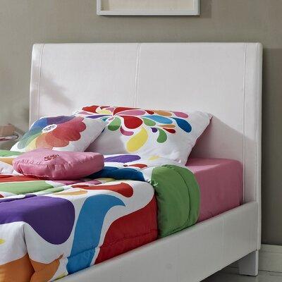 Fantasia Upholstered Panel Headboard Size: Twin, Finish: White